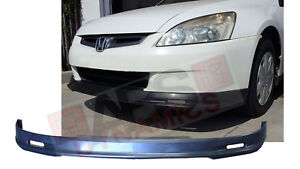 Mugen Style Front Lip For 2003 2005 Honda Accord Sedan Unpainted Polyproplyene