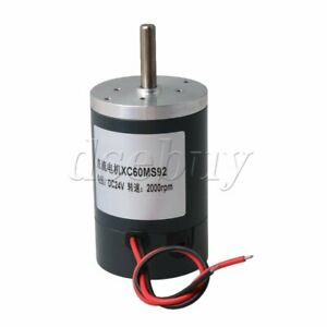 Xc60ms92 24v 2000rpm High Speed Permanent Magnet Dc Motor For Diy Generator