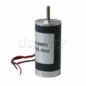 Reversible 2000rpm Dc12v Brushed Gear Motor High Speed Cw ccw 5mm Output Shaft