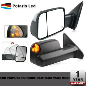 For 2002 08 Dodge Ram 1500 03 09 2500 3500 Flipup Tow Extend Mirrors Left Right