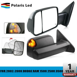 For 2002 08 Dodge Ram 1500 03 09 2500 3500 Tow Extend Mirrors Pair