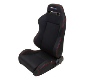 Nrg Type R Cloth Sport Seats W Red Stitching Left Right Rsc 200l R