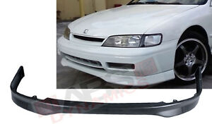Type R Style Front Lip For 1994 95 Honda Accord 2 4dr Unpainted Polyproplyene