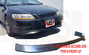 Type R Style Front Lip For 1998 2000 Honda Accord Coupe Unpainted Polyproplyene