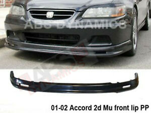 Mugen Style Front Lip For 2001 2002 Honda Accord Unpainted Black Polyproplyene