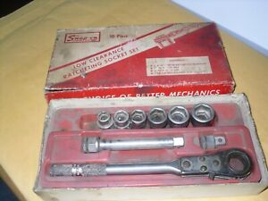 Snap On Afr100a R720sh Ratchet 9pc Low Clearance Ratcheting Socket Set Usa