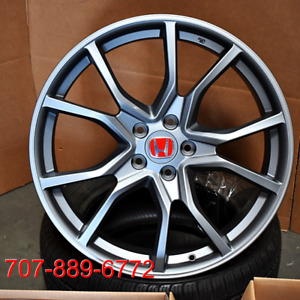 20x8 Type R Style Satin Gunmetal machined Wheels Fit Honda Civic Accord Rims Fk8