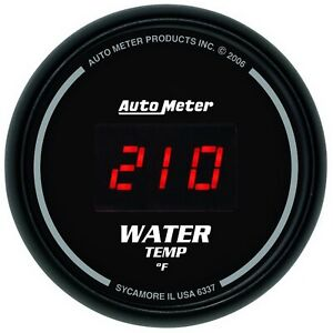 Autometer 6337 Sport comp Digital Water Temperature Gauge