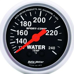 Autometer 3332 Sport comp Mechanical Water Temperature Gauge