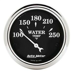 Autometer 1737 Old Tyme Black Water Temperature Gauge