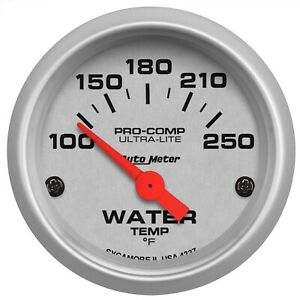 Autometer 4337 Ultra Lite Electric Water Temperature Gauge