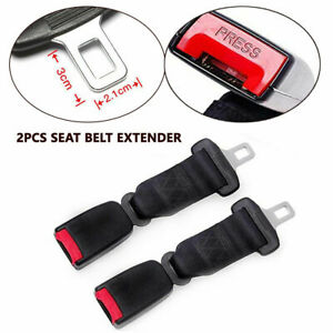2pcs Seat Belt Extender 9 Inch Safety Extension Buckle Kit For Car Suv Bus 9