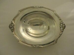 Vintage 1847 Rogers Eternally Yours Silver Plate Footed Bowl