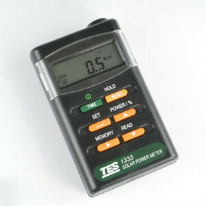 Tes 1333 Digital Solar Power Meter Radiation Detector Solar Cell Energy Tester