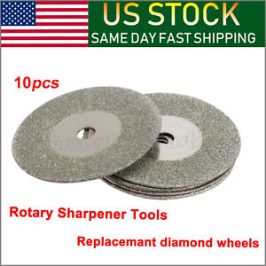 5x 25mm Grit 600 Diamond Replacemant Wheels Tungsten Grinder Sharpener Tool