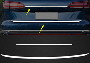 Stainless Steel Tail Rear Trunk Lid Cover Trim For Volkswagen Touareg 2011 2018
