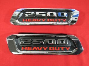 Dodge Ram 2500 Heavy Duty Right Left Hood Emblem Nameplate Dt New Oem Mopar
