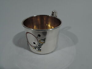 Webster Mug Antique Christening Baby Cup American Sterling Silver