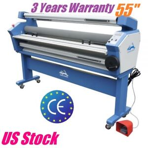 55 Full auto Wide Format Large Cold Laminator Laminating Machine Heat Assisted