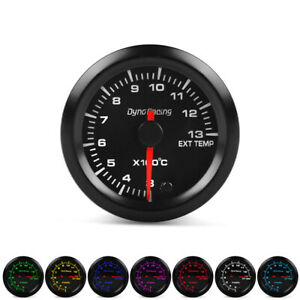 2 52mm 7 Color Led Car Exhaust Gas Temp Gauge Pointer Egt Temperature Meter