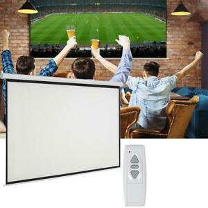 Leadzm 92 16 9 Electric Motorized Projector Projection Screen Remote White Us
