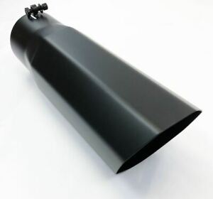 Diesel Exhaust Tip 6 00 Dia X 18 00 Long 4 00 Inlet Bolt On Octagon Black Sta