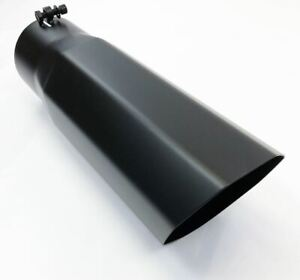 Diesel Exhaust Tip 6 00 Dia X 18 00 Long 5 00 Inlet Bolt On Octagon Black Sta