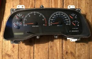 1998 Oem Dodge Pickup 1500 Speedometer Instrument Cluster With Tachometer