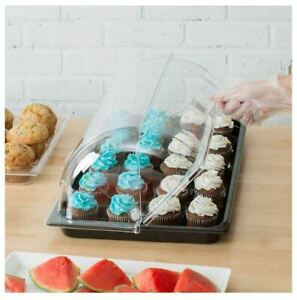 Bakery Display Case Countertop Items Dishes Self Serve Table Tray With Cover New