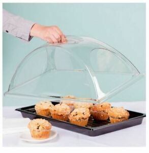 Bakery Display Case Countertop Items Dishes Self Serve Table Tray With Lid Cover