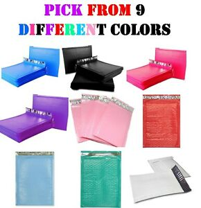 0 6x10 Colored Poly Bubble Mailers Envelopes Shipping Bags Padded Mailing 6x9