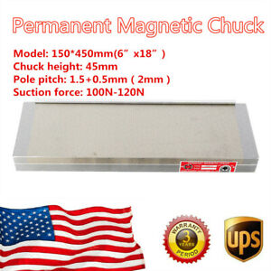 Permanent Magnetic Chuck For Grinding Machine 6x18inch Manufacturing Workholding
