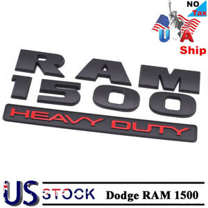 For Dodge Ram 1500 Heavy Duty Truck Body Emblem Badge Replacement Accessories