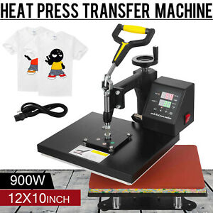 12 X 10 T shirt Heat Press Transfer Digital Sublimation Machine 360 Swing Away