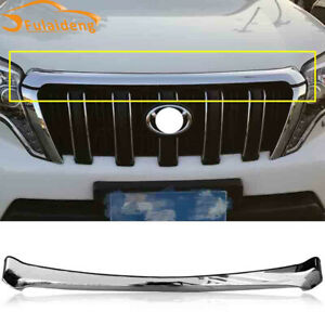 For Toyota Prado Fj150 2014 2017 Abs Chrome Front Hood Cover Decor Strips Trim