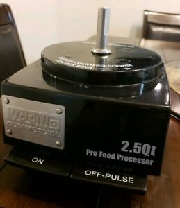 Waring Commercial Batch Bowl Pro Food Processor 2 5 Quart Base Only Sold As Is