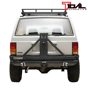 Tidal Fit For 84 01 Jeep Cherokee Xj Off Road Rear Bumper W Tire Carrier