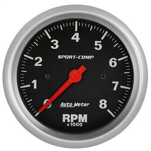 Autometer 3991 Sport comp In dash Electric Tachometer