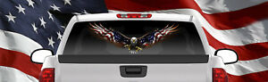 American Eagle Flag Truck Semi Rv Trailer Wall Window Decal Sticker Graphic