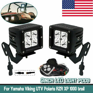2x 3inch 16w Spot Led Work Light Square Cube Pods For Offroad Fog 4wd Bumper
