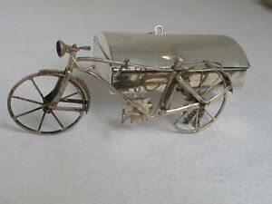 Vintage Sterling Silver Figural Bicycle Box Made In Mexico By J Grrlagos