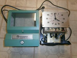 Old Factory Time Clock Recorder Punch Clock Acroprint