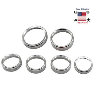 6pcs Silver Air Conditioner Audio Switch Decor Ring Cover Trim For Ford F150 Us