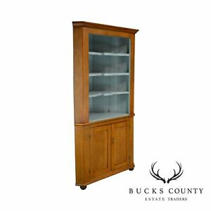 Country Pine Antique 19th Century Corner Cabinet