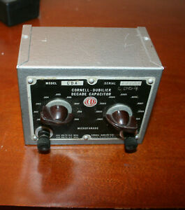 Vintage Cornell Dubilier Decade Capacitor Cda5 Untested Great Condition