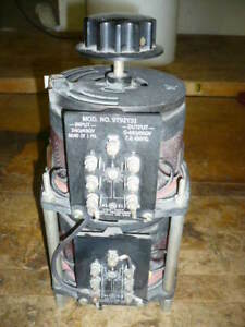 Variac Variable Transformer 240 480 Volts In 0 480 560 Volts Out 7 Amps