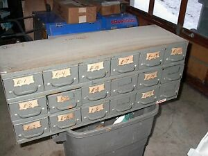 Equipto Steel Small Parts Drawer Bin Cabinet