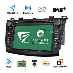Android 8 1 8 Car Radio Dvd Gps Navigator Touch Screen For Mazda 3 2010 2013 I