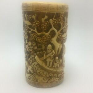 Antique Vintage Chinese Japanese Brush Pot