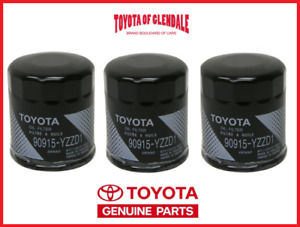 Genuine Toyota Lexus Oil Filter Set Of 3 Oem 90915 Yzzd1 Fast Shipping